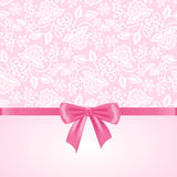 White lace on pink background Stock Photos