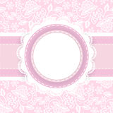 White lace on pink background Royalty Free Stock Photography