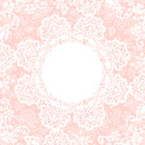 White lace on pink background Stock Photography
