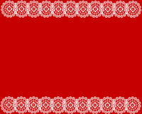 White lace red background Royalty Free Stock Photography