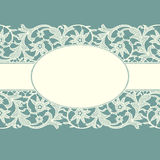 White Lace Ribbon. Royalty Free Stock Images