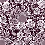 White Lace Seamless Pattern. Stock Image