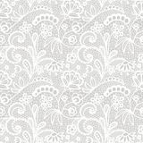 Lace seamless pattern with flowers. White lace seamless pattern with flowers on beige background vector illustration