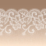 White Lace Seamless Pattern. Royalty Free Stock Photography