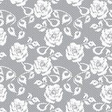 White lace seamless pattern Stock Photography