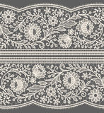 White Lace Seamless Pattern. Royalty Free Stock Photos