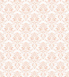 White Lace Seamless Pattern on pink Background Royalty Free Stock Photo