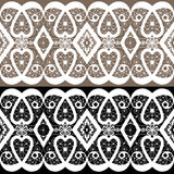White lace seamless pattern textile background Stock Photos