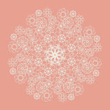 White lace serviette on pink background Royalty Free Stock Photo