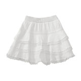 White lace skirt on white. Background with working path royalty free stock photography