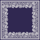 White Lace Square vector Frame. Royalty Free Stock Image