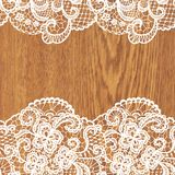 White lace on tree texture. Stock Image