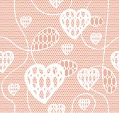White lace vector fabric seamless pattern Stock Photos