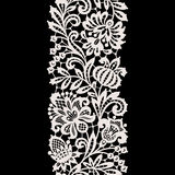 White Lace. Vertical Seamless Pattern. Stock Photography