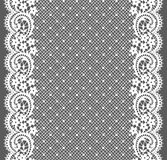 White Lace. Vertical Seamless Pattern. Royalty Free Stock Photos