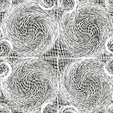 White lace weave grunge swirled seamless pattern  Royalty Free Stock Photos