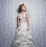 White Lace Wedding Dress Stock Photography