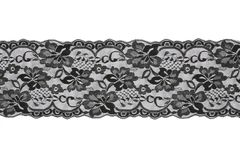 Black lace on white background Stock Photography
