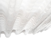 White Lace Window Blinds Abstract Pattern Stock Photography