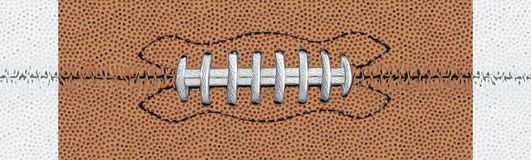 White Laced American Football Detail with White Stripes vector illustration