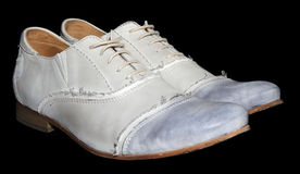 White laced shoes Royalty Free Stock Photography