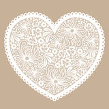 White lacy heart Stock Photography