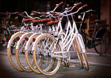 White ladies bicycles