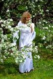 White lady royalty free stock image