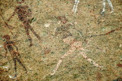 White Lady rock engravings at Brandberg Stock Photography