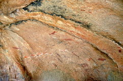 White Lady rock engravings at Brandberg Royalty Free Stock Photo