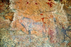 White Lady rock engravings at Brandberg Stock Photo