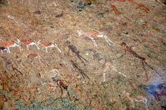 White Lady rock engravings at Brandberg Royalty Free Stock Images