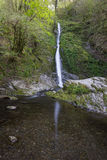 White Lady Waterfall. In Lydford Gorge, Devon, UK Royalty Free Stock Image