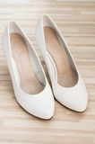 White ladys shoes Royalty Free Stock Photo