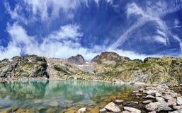 White lake in Chamonix valley Stock Photography