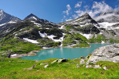 White Lake in National park Hohe Tauern Stock Photos