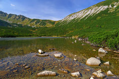 White lake in Tatry Bielskie Mountains Royalty Free Stock Photo