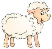 White lamb royalty free illustration