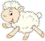 White lamb. Vector clip-art / children's book illustration for your design Royalty Free Stock Image
