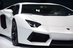 White Lamborghini Aventador Royalty Free Stock Image
