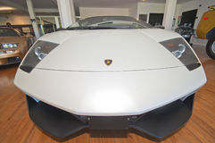 White Lamborghini Stock Photography