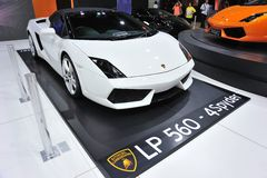 White Lamborghini Gallardo Bicolore Royalty Free Stock Photos