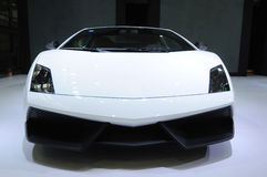 White lamborghini, Gallardo LP 570-4 Superleggera Royalty Free Stock Images