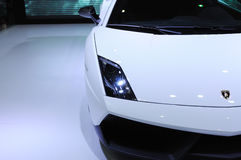 White lamborghini, Gallardo LP 570-4 Superleggera Stock Photos