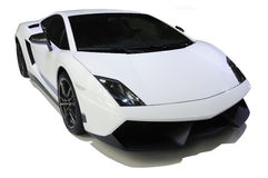 White lamborghini, Gallardo LP 570-4 Superleggera. Sport car White lamborghini, Gallardo LP 570-4 Superleggera Royalty Free Stock Photo