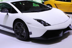 White lamborghini sport car royalty free stock photography