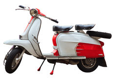 White lambretta Stock Photography