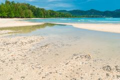 White lambs on the turquoise waters of the Andaman Sea Stock Photos