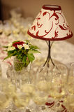 White lamp with red patterns Royalty Free Stock Images