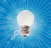 White Lamp. Vector Illustration on the Background. Royalty Free Stock Photos